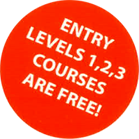 Entry Levels 1,2,3 courses are free!