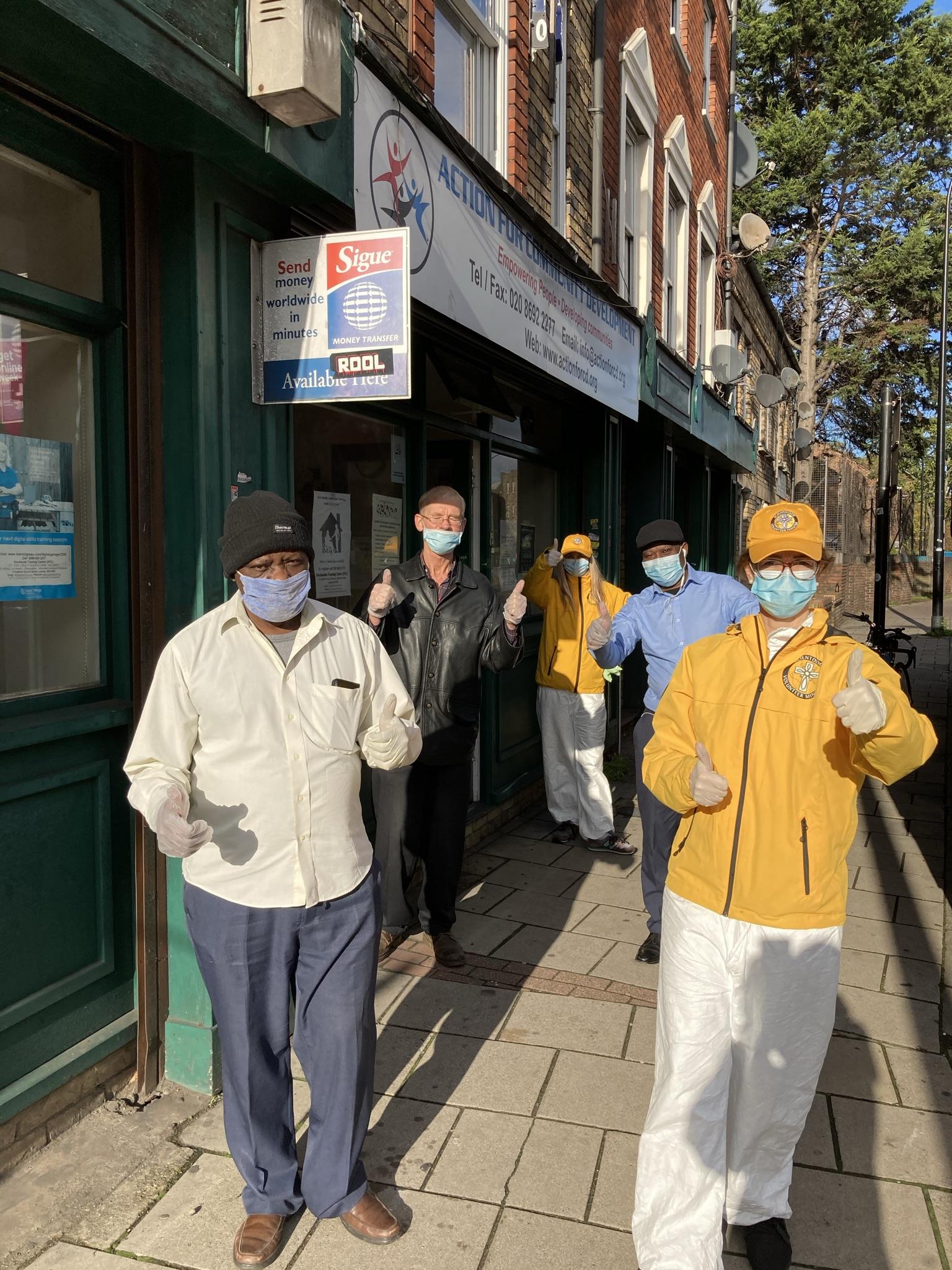 Anti Coronavirus sanitisation at the centre